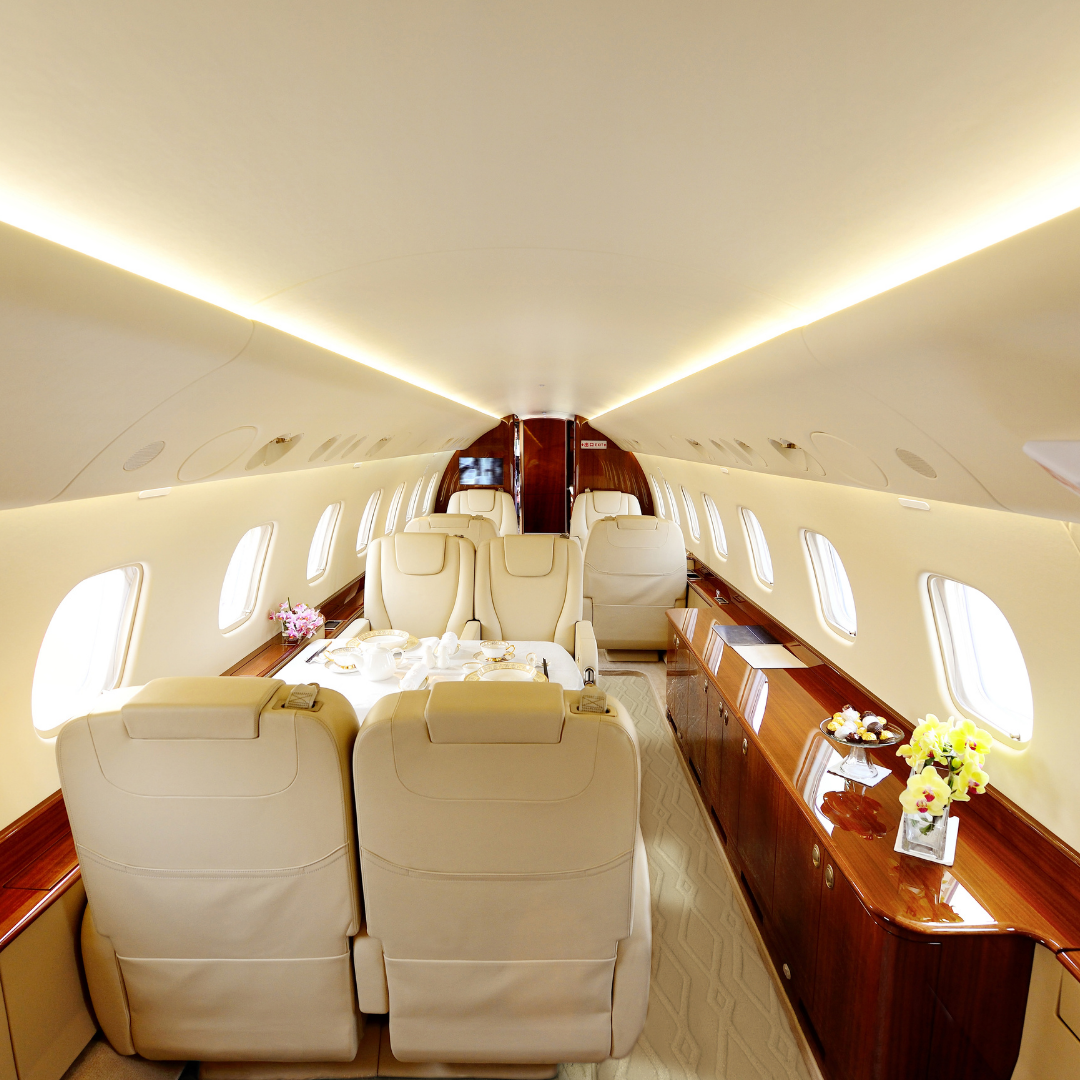 Bespoke luxury carpets for private jets